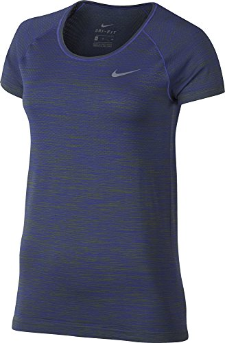 Womens Nike Dry Knit Shortsleeve Top, X-Large, (Palm Green/Paramount Blue)