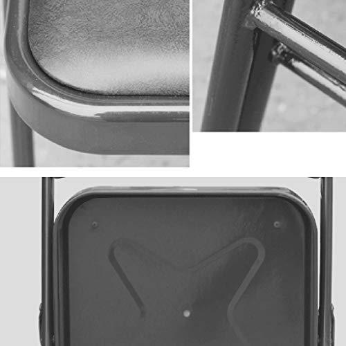 Yunyisujiao Hopfällbar stol med ryggstöd datorstol hem liten matstol elegant minimalistisk stil pall (färg: Lila)