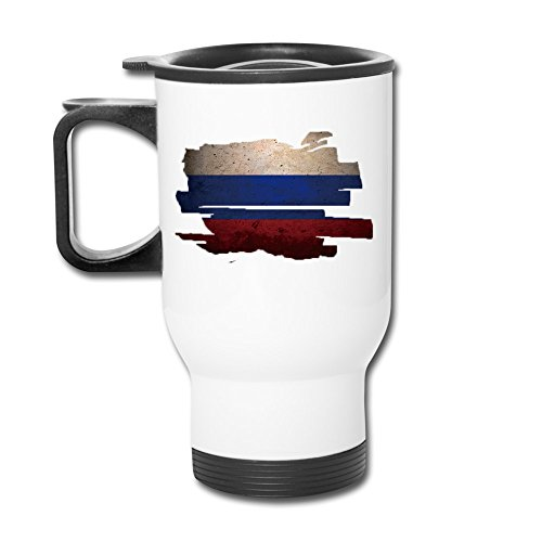 Flag Of Russia Distressed Fashion Portable Outdoor Sports Travel Mug