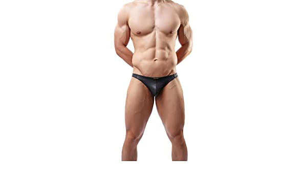 Sexy Mens G-string Underwear Thong Gay Faux Leather Sm Game C36 at Amazon Mens Clothing store: