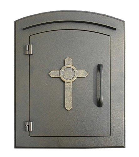Qualarc MAN-1403-BZ Manchester Column Mount Mailbox With