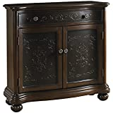 Pulaski DS-P017065 Traditional Two Tone Accent Hall Chest with Gem Brown Finish