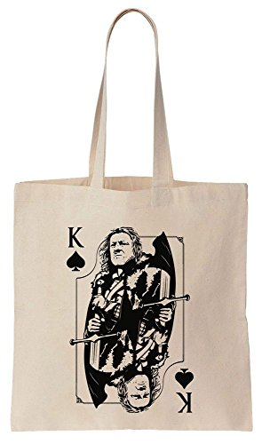 Ned Stark King Of Spades Card Design Sacchetto di cotone tela di canapa