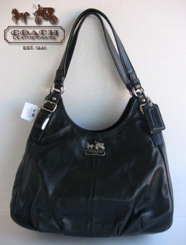 08d738611410 Amazon.com  Coach Madison Leather Maggie Shoulder Hobo Bag Purse ...