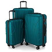 Suitline 3er Koffer-Set Trolley-Set Rollkoffer Hartschalen-Koffer Reisekoffer, TSA, (55 cm, 66 cm, 76 cm), 100% ABS…