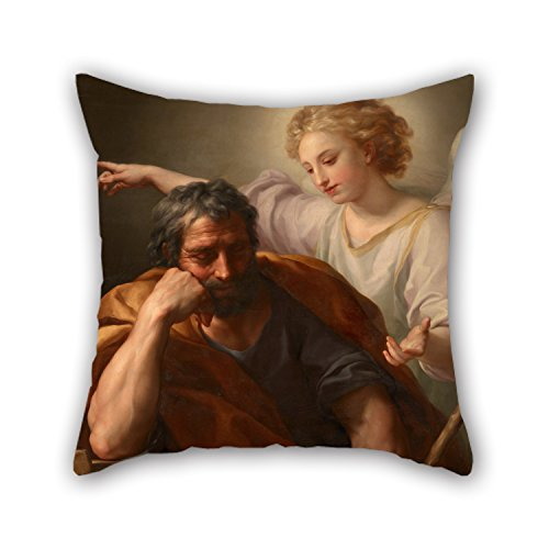 throw pillow covers of oil painting Anton Raphael Mengs - The Dream of St. Joseph,for kids room,bedroom,christmas,gf,floor,bar seat 16 x 16 inches / 40 by 40 cm(both sides) (Car Seat Cover Frogs With Leaves compare prices)