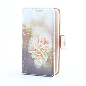 GJY Flower Style PU Leather Case with Card Slot and Stand for Samsung Galaxy S4 Mini i9190