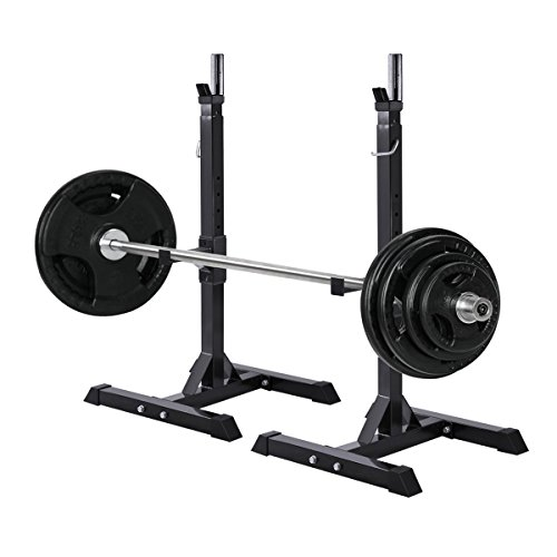 Muorka Pair Of Adjustable Barbell Stands Racks Bench Press