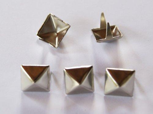 Femitu 100 Pcs. 11.00 Mm. Silver Pyramid Studs Nailheads ()