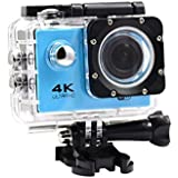 Creazy 2018 Waterproof 4K Wifi HD 1080P Ultra Sports Action Camera DVR Cam Camcorder (Blue)