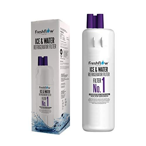 Refrigerator Water Filter Replacement - For Models W10295370A, W10295370, EDR1RXD1 Found In Leading Big Name Brands Of Top Freezer, Bottom Freezer, and Side-By-Side Fridge - By Freshflow Water(1 Pack)
