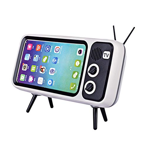 YOU339 PTH800 Retro TV Bluetooth Wireless Speaker Phone Holder, Table Cell Phone Accessories, Desktop Mobile Phone Stand…