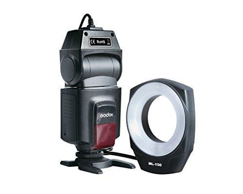 Godox ML-150 マクロ リングフラッシュ スピードライト 6レンズアダプターリング付き (Canon/Nikon/Pentax/Olympus対応)