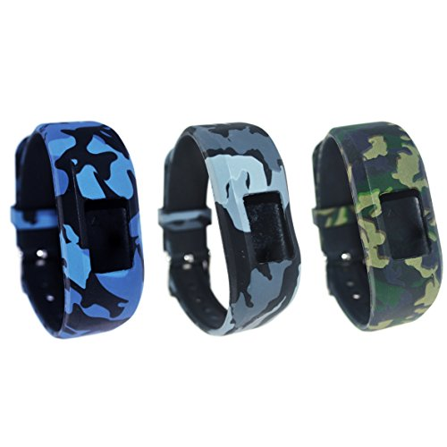 TenCloud For Garmin vivofit JR/vivofit JR.2 Tracker Replacement Soft Adjustable Silicone Kids Bands Fit Wrist 5.1in~6.9in [Ages 6+] (Three Soldiers-Mini) by TenCloud