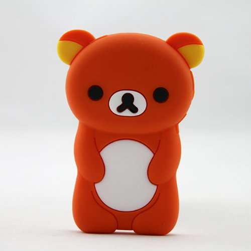 Phaetonnice 3D Cute Bear Silicone Skin Case Cover for Apple iPod Nano 7th Generation 7G - -