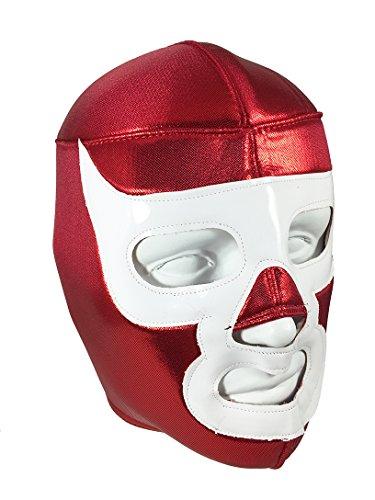 [Luchador Demon Adult Lucha Libre Wrestling Mask (pro-fit) Costume Wear - Red/White] (Custom Wrestling Costumes)