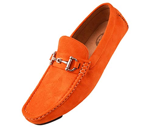 Amali Mens Plush Microfiber Faux Suede Slip On Loafer Driving Shoe with Buckle Style Walken ()