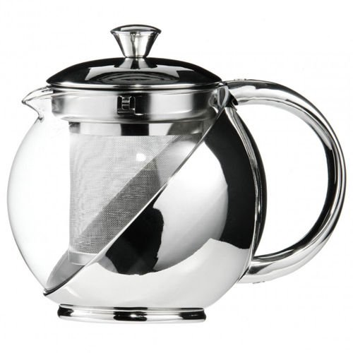 Kabalo 750ml Modern Sylish Stainless Steel & Glass Teapot WITH LOOSE TEA LEAF INFUSER by Kabalo (Image #2)