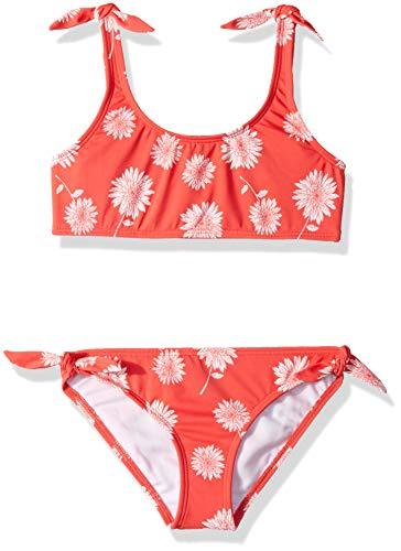 Billabong Girls' Girls' Daisy Day Tank Bikini Set Sunset Red 7 ()
