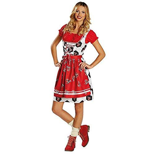 Damen Kostüm Dirndl 1. FC Köln Karneval Fasching Oktoberfest Gr.46