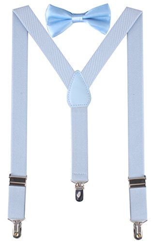 thick light blue suspenders - 1