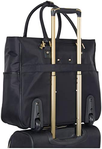 """Kenneth Cole Reaction Women's Runway Call Nylon-Twill 17"""" Laptop & Tablet Anti-Theft RFID Wheeled Business Carry-On Tote"""