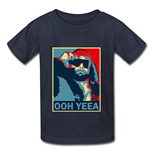 Seico Macho Man Randy Savage Wrestler T-shirt For Unisex Kids L Navy