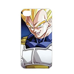 Dragon Ball Manga Comic Slim Vegeta Apple iPhone 4 / 4s TPU Soft Black or White case (White) hjbrhga1544