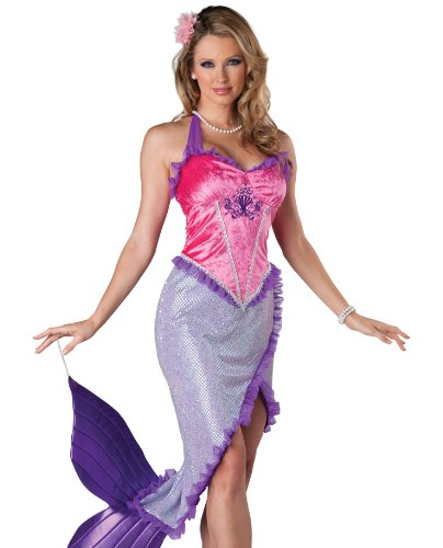 InCharacter Costumes Women's Beautiful Mermaid Costume, Pink/Purple, Small
