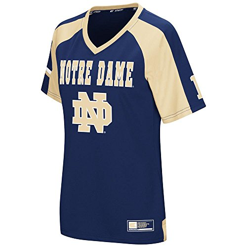 Womens NCAA Notre Dame Fighting Irish Torch Football Fashion Jersey - L