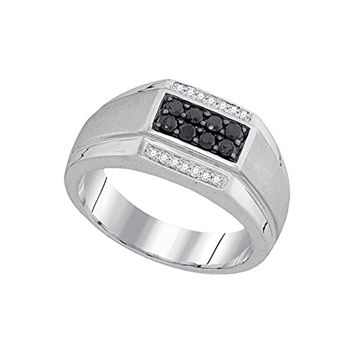 3/8 Total Carat Weight BLACK DIAMOND MENS FASHION RING 0.15 Total Carat Weight