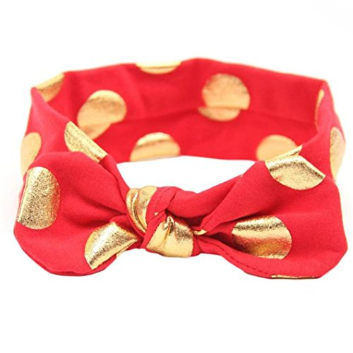 Baby Cotton Knot Headband Turban Stretchable Hairband (Red) - 8