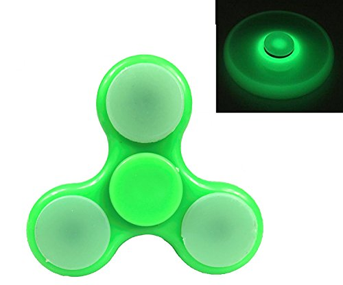 Glow In the Dark Fidget Spinner Toy High Speed Hand Spinner EDC Stress and Anxiety Relief Spinner by Krazy Spinner (Glow In Dark Green)