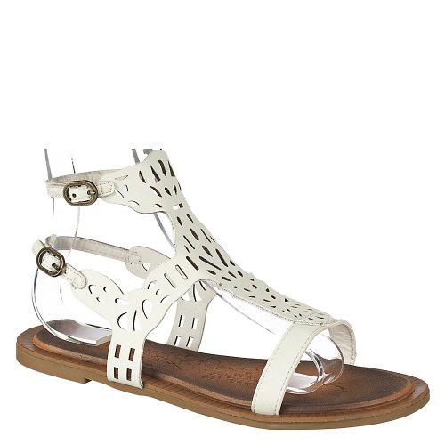 Bamboo Womens Impart-02 Sandal White EardghH3U