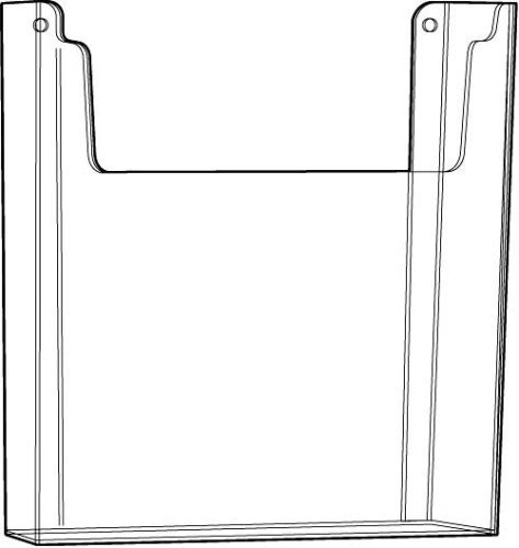 Gibson Holders 8.5 x 11 Inches Acrylic Wall Mount Brochure Holder (1084E)