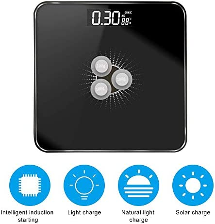 Scales New Body Fat Scales Intelligent Solar-Power Weight Scale High Precision Gift for Family Body Health Care