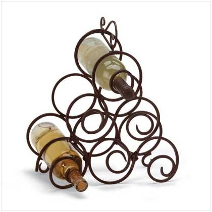 Gifts & Decor 32405 Scrollwork Wine Rack, Multicolor