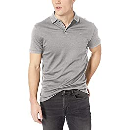 Calvin Klein Men's Liquid Touch Polo Solid with Uv-Protection