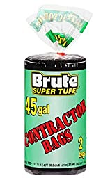 Brute Super Tuff 45 Gallon Contractor Bags - 20 Bag Count