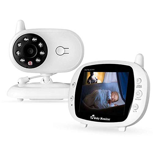 """LXT PANDA Video Baby Monitor, with 3.5"""" Large LCD Screen Camera Audio Night Vision,Support Multi Camera Two Way Talk Temperature Sensor,Built-in Lullabies."""