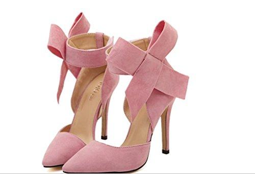 YCMDM signore delle donne scarpe Paste-tacco alto scarpe sandali moda scarpe singolo primavera-estate , pink , 36