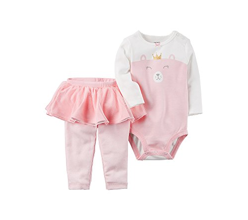 Carter's Baby Girls' 2 Piece Bear Bodysuit & Tutu Pants Set 24 Months