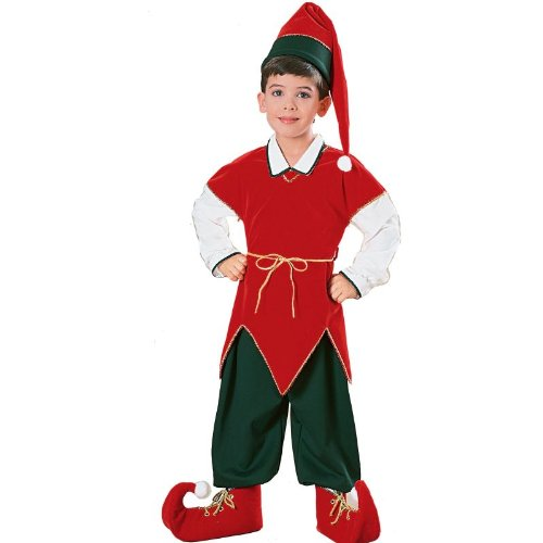 [Children's Velvet Elf Suit Costume - Small] (The Elf Costume Prices)