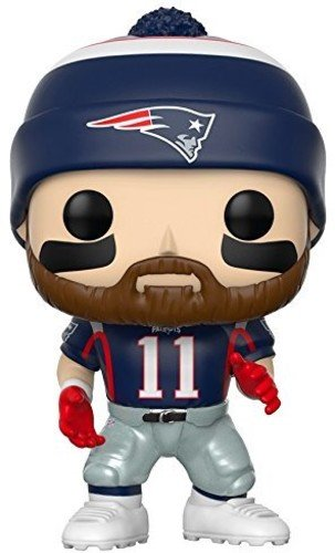 Funko Pop NFL: Julian Edelman (Patriots Home) Collectible Figure (Head Brady Tom Bobble)