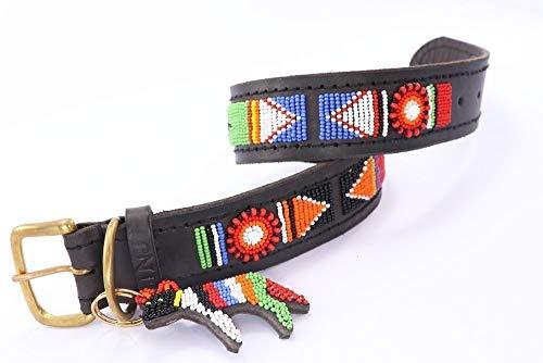The Original Handmade Beaded Leather Dog Collar by SafariDogCollars -