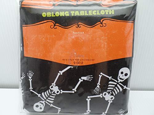 Target Brands Oblong Tablecloth Halloween Dancing Skeletons 60