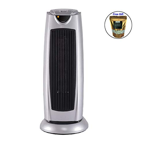 Tower Heater 1500W Oscillating Space Heater Electronic Thermostat 2 Heat Setting + FREE E-Book Ceramic Heaters Eight24hours