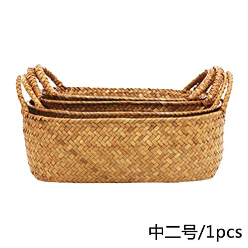 Best Quality - Storage Baskets - Handmade Bamboo Storage Baskets Foldable Laundry Straw Patchwork Wicker Rattan Seagrass Belly Garden Flower Pot Planter Basket - by - 1 -
