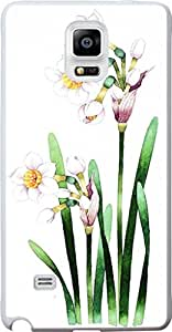 Case for Samsung Galaxy Note 4 Freshing Purple as Flowers Hard Unique Designer Slim Pattern Thin Protective Shockproof Drop Proof more SALE that time