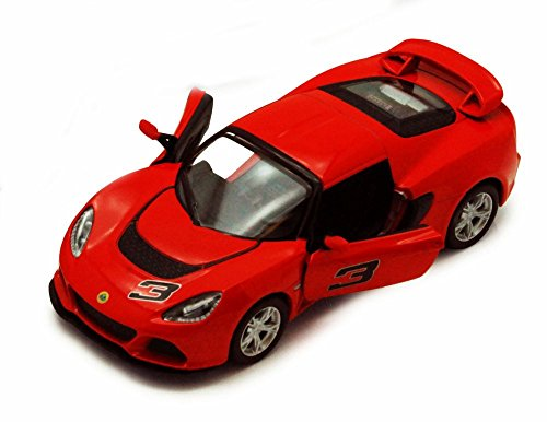 2012 Lotus Exige S #3, Red - Kinsmart 5361D - 1/32 scale Diecast Model Toy Car, but NO BOX